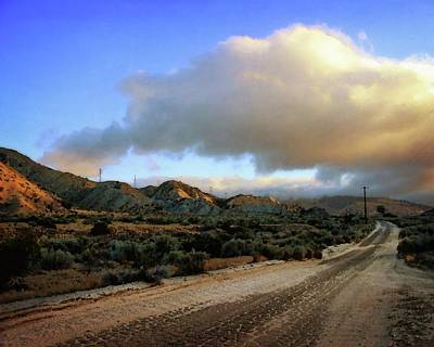 Photograph - The Road To Hungry Valley by Timothy Bulone