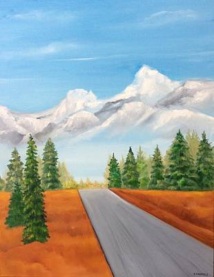 Painting - The Road To Lake Louise by Ellen Canfield
