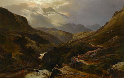 Percy Painting - The Road To Loch Turrett by Celestial Images