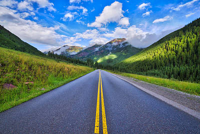Art Print featuring the photograph The Road To Maroon Lake by Photography By Sai