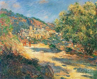 The Road To Monte Carlo Art Print by Monet