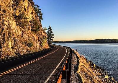 Photograph - The Road To Orcas Island by William Wyckoff