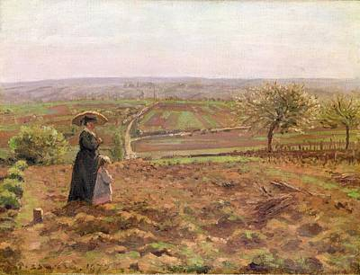 Painting - The Road To Rouen by Camille Pissarro