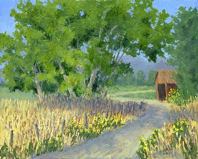 Shed Painting - The Road To The Back Field by David King