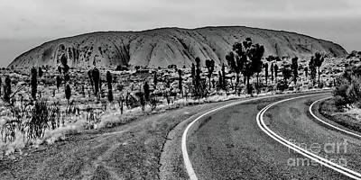 Photograph - The Road To Uluru Bw by Tim Richards