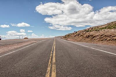 The Road Up Pikes Peak At Around 12,000 Feet Art Print by Peter Ciro
