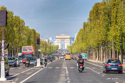 Photograph - Arc De Triomphe by Walt  Baker