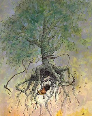 Tree Creature Painting - The Roaming Oak by Ethan Harris