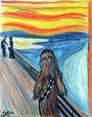Chewbacca Painting - The Roar by Tom Carlton