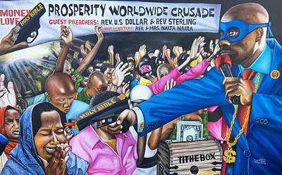 Painting - The Robbery Revival Matthew21vs13 by O Yemi Tubi