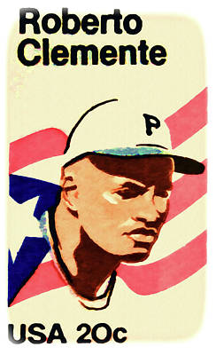 The Roberto Clemente  Art Print by Lanjee Chee