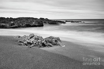 Central Oregon Coast Photograph - The Rock And Beach by Masako Metz