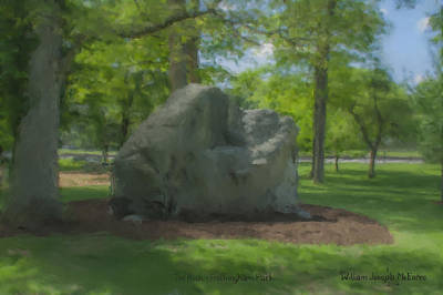 The Rock At Frothingham Park, Easton, Ma Art Print