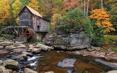 Photograph - The Rock At Glade Creek Grist Mill by Chris Berrier