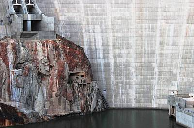 The Rock Behind The Dam Art Print