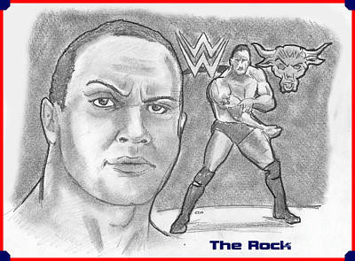 Drawing - The Rock by Chris  DelVecchio
