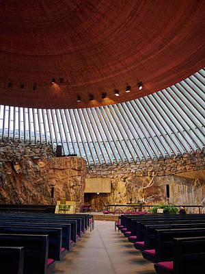 Jouko Lehto Royalty-Free and Rights-Managed Images - The Rock Church in Helsinki by Jouko Lehto