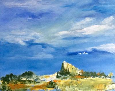 Painting - The Rock by Ellen Canfield