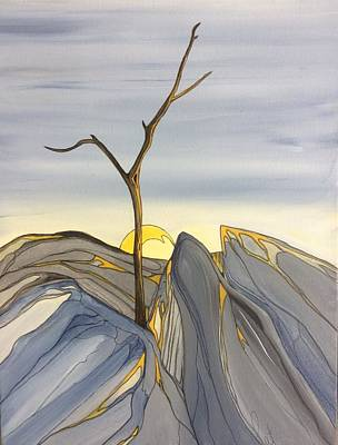 Painting - The Rock Garden by Pat Purdy