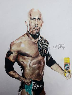 Dwayne The Rock Johnson Painting - The Rock Getting Ready To Shine Something by Marquiece Lynch