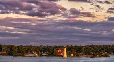 Photograph - The Rock Island Lighthouse by Mark Papke