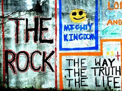 The Rock Art Print by Michael L Kimble