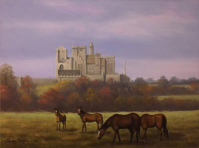 Mystical Landscape Painting - The Rock Of Cashel by Sean Conlon