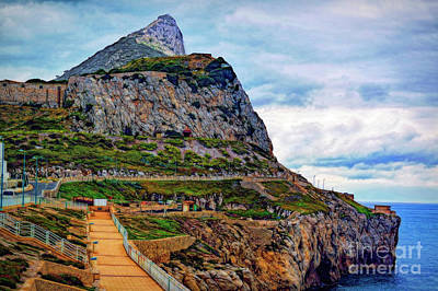 Photograph - The Rock Of Gibraltar by Sue Melvin