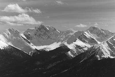 Photograph - The Rockies - B/w by Josef Pittner