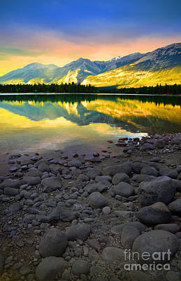 Photograph - The Rockies Reflected At Lake Annettee by Tara Turner