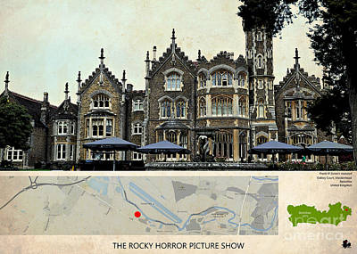 The Rocky Horror Picture Show Film Locations, Maidenhead, Berkshire Art Print by Pablo Franchi