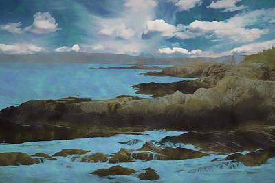 Digital Art - The Rocky Maine Coast. by Rusty R Smith