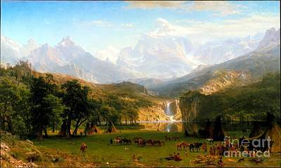 Blog Painting - The Rocky Mountains Lander's Peak by Celestial Images