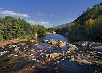 Photograph - The Rocky Pemigewasset River by Nancy Griswold