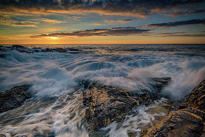Photograph - The Rocky Shore Of York, Maine by Rick Berk