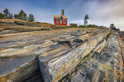 Photograph - The Rocky Shoreline Of Pemaquid Point by Rick Berk
