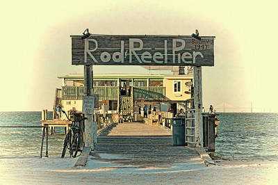 Photograph - The Rod And Reel Pier Vintage   by HH Photography of Florida