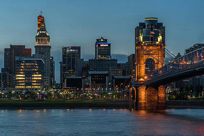 Waterview Photograph - The Roebling Bridge by Jim Archer