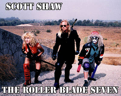 Photograph - The Roller Blade Seven by The Scott Shaw Poster Gallery
