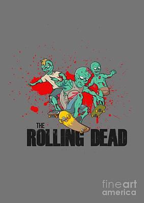 Danai Gurira Digital Art - The Rolling Dead The Walking Dead Parody The Amc Twd Show Amc Zombies by Paul Telling