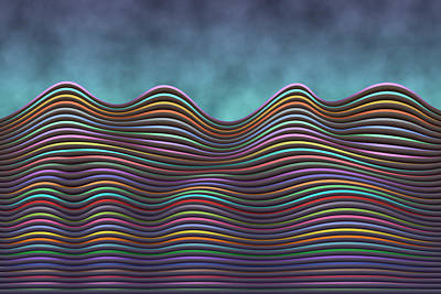 Digital Art - The Rolling Hills Of Subtle Differences by Becky Titus
