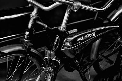 Bicycle Photograph - The Rolling Rock Bike by David Patterson