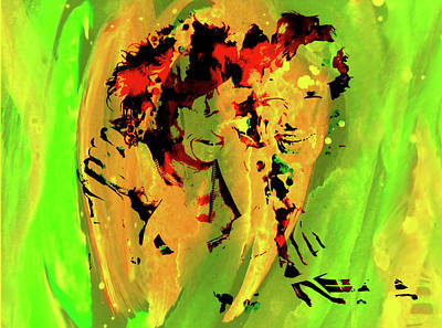 Mick Jagger And Keith Richards Mixed Media - The Rolling Stones 2a by Brian Reaves