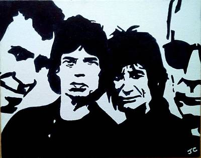 Music Paintings - The Rolling Stones by John Cunnane