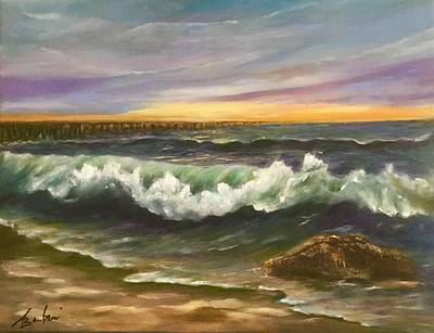 Painting - The Rolling Surf by Anne Barberi