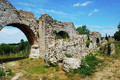 Architecture Photograph - The Roman Aqueduct At Fontvieille France by Just Eclectic