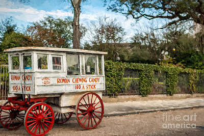 The Roman Candy Cart-nola Art Print by Kathleen K Parker
