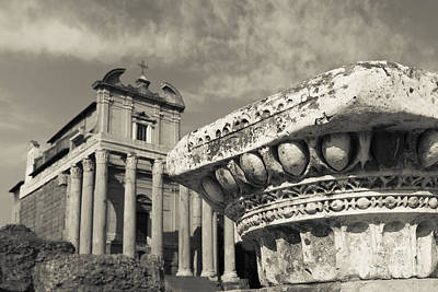 Archeology Photograph - The Roman Forum by Edward Fielding