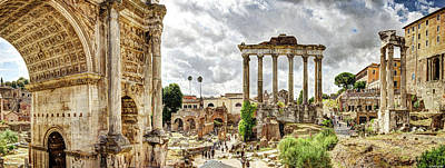 Photograph - The Roman Forum From Santi Luca by Weston Westmoreland