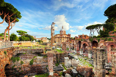 Photograph - The Roman Forum, Italian Foro Romano In Rome, Italy by Michal Bednarek